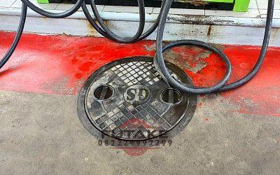 Manhole Cover SPBU Baja Cor Kokoh dan Kuat