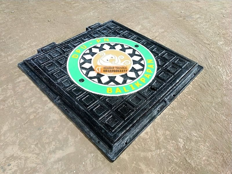 Manhole Cover 2021 Bahan Besi Cor Tebal dan Kokoh