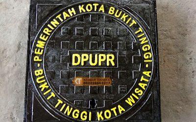 Manhole Cover Tutup Besi Saluran Air Pemerintah Kota Bukit Tinggi
