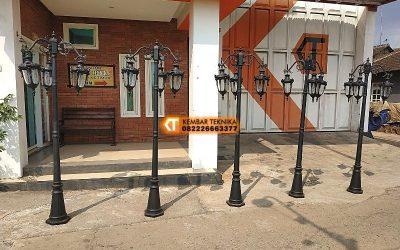 Tiang Lampu Taman / Jalan Besi Cor Harga Murah